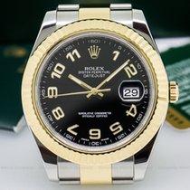 Rolex 116333 Datejust II 18K / SS Black Arabic Dial (26043)