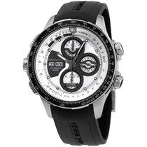 Hamilton Silver Dial Black Silicone Strap Men's Watch...