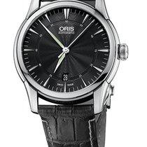 Oris Artelier Date Black Dial Black Leather