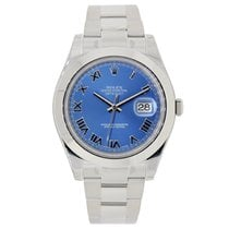 Rolex DATEJUST II 41mm Stainless Steel Blue Roman Dial