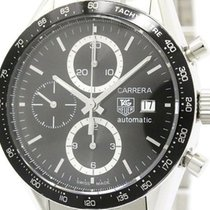 TAG Heuer Carrera Chronograph Steel Automatic Watch Cv2010...