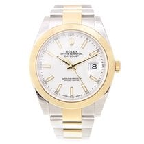 Rolex Datejust Gold And Steel White Automatic 126303WT_O