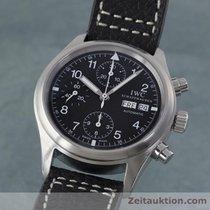 IWC Fliegerchronograph Day Date Anzeige Automatik Herrenuhr 3706