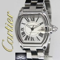 Cartier Roadster Stainless Steel Silver Dial Mens Watch...