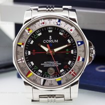 Corum 982.630.20 Admirals Cup 44 Automatic Black Dial SS / SS...