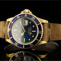 勞力士 (Rolex) Submariner (40mm) Ref.: 16808 in Gelbgold aus 1981...