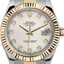 Rolex 41mm  Datejust II 116333 Ivory Diamond