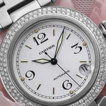 Cartier Pasha #2324 Stainless Steel Watch 35mm White Dial...