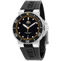 Oris Aquis Automatic Black Dial Silicone Strap Men's Watch...
