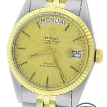 Tudor Oyster Prince Date-Day Two-Tone Gold Stainless Linen 94613
