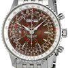 Breitling Montbrilliant Datora Brown Steel Mens Watch A2133012...