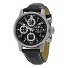 Fortis Flieger Classic Chornograph Black Dial Leather Automati...