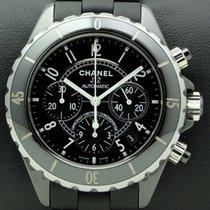 Chanel J12 Chonograph, Black Ceramic