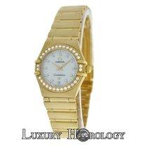 Omega Mint Ladies Constellation 22MM 18K Yellow Gold Diamond MOP