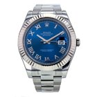 Rolex Datejust Ii Stainless Steel Automatic Blue Roman Dial...