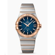 Omega Constellation Steel - Red Gold Blue Dial 123.20.38.21.03...