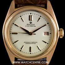 Rolex 18k R/G Silver Dial Bubbleback Oyster Perpetual Vintage...
