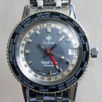 Zodiac Vintage World Time Sea Wolf Automatic