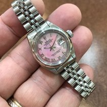 Rolex Datejust Ladies Stainless Steel Watch Smooth Bezel