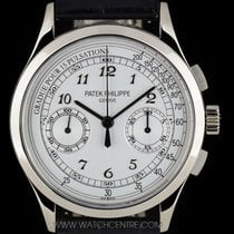 Patek Philippe 18k W/G Silver Dial Classic Chronograph Gents...