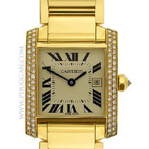 Cartier 18k yellow gold mid-size Tank Francaise