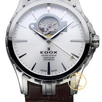 Edox Grand Ocean Open Heart Automatic Brown Leather Strap...