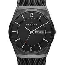 Skagen Melbye Mens Mesh Strap Watch - All Black Design - Day /...