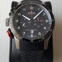 Edox Chronorally Carbon dial Chronograph - Men's - 2010's