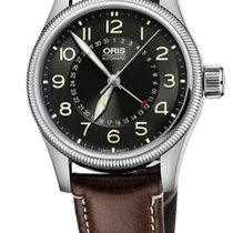 Oris Big Crown Pointer Date, Black Dial, Brown Leather