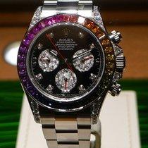 Rolex [NEW][RARE] Rainbow Daytona 116599 RBOW White Gold