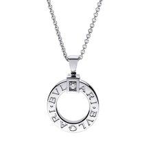 Bulgari Necklace Pendant Diamond and Chain 18K White Gold...