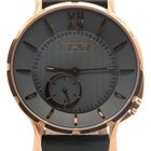 N.O.A Noa Slim Watch 18.60 Gp-mslq-004 Gray Dial Rose Gold...
