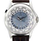 Patek Philippe 5110P World Time Platinum Mens Watch