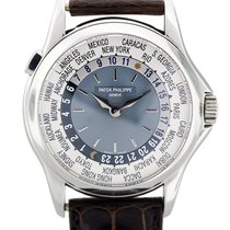 Patek Philippe 5110P World Time Platinum Mens Watch