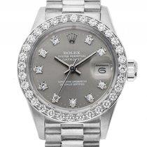Rolex Datejust Lady Weißgold Diamond Automatik Armband...
