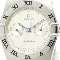Omega Polished Omega Constellation Day Date Steel Quartz Mens...