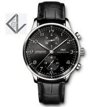 IWC Portugieser Chronograph Black Dial Steel 40.9MM