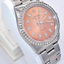 Rolex Air-king 14000 1.35ct Diamonds Bezel & Salmon Dial...