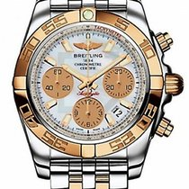 Breitling Chronomat 41 watch c 18k pink gold &st.st