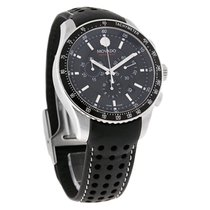 Movado 800 Series Mens Blk Dial Swiss Quartz Chronograph Watch...