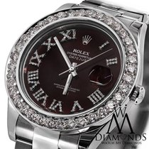 Rolex Datejust Ii Red Roman Diamond Dial 41mm Watch Diamond...