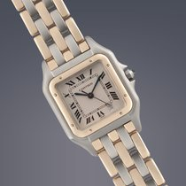 Cartier Panthere 3-row stainless steel and yellow gold quartz...