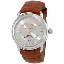 Aerowatch 1942 Silver Dial Automatic Men's Moonphase Watch