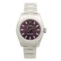 Rolex Lady Oyster Perpetual Stainless Steel Purple Automatic...