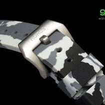Panerai Horus Snow Camouflage Rubber Straps With Brushed...