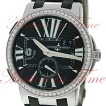 Ulysse Nardin Executive Dual Time GMT, Black Dial, Diamond...