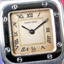 Cartier Santos, Steel, Ivory Dial,  Ladies/Damen/Dames