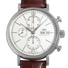 IWC Portofino Chronograph Automatic Silver plated white dial NEW