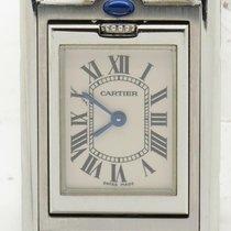 Cartier Tank Basculante Quartz Stainless Steel Designer Watch...