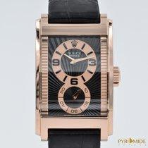 Rolex Cellini Prince Rose Gold Black Dial 5442/5